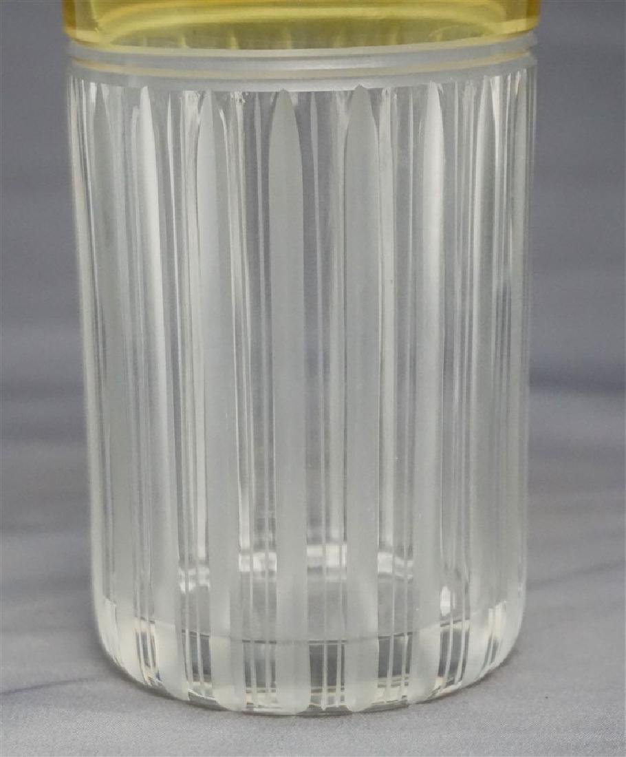 ETCHED CUT CRYSTAL YELLOW CUT TO CLEAR TUMBLER - 3