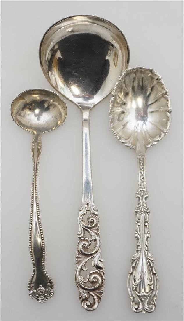 3PC SILVER LADLES & SPOONS MYLIUS + WHITING