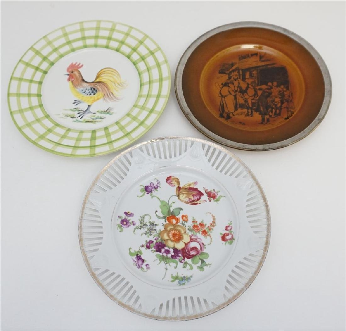 3 ANTIQUE / VINTAGE PLATES