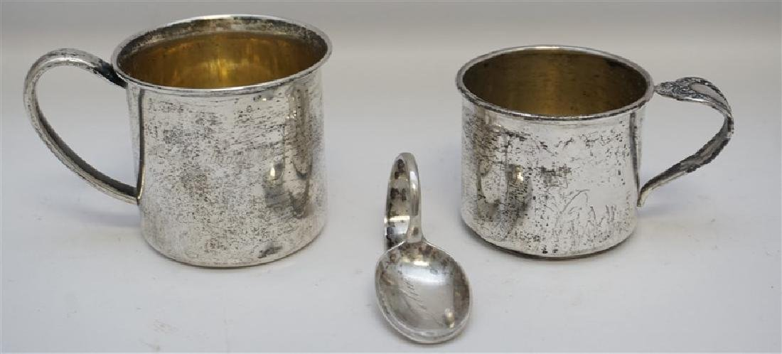 3 PC STERLING BABY CUPS & SPOON