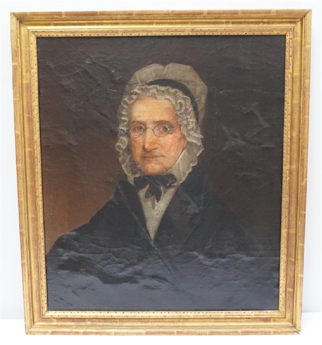 1844 OIL PORTRAIT OF AN OLDER WOMAN