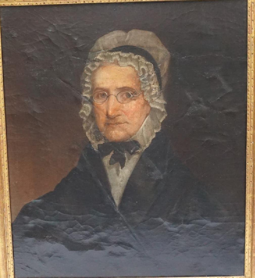 1844 OIL PORTRAIT OF AN OLDER WOMAN - 2
