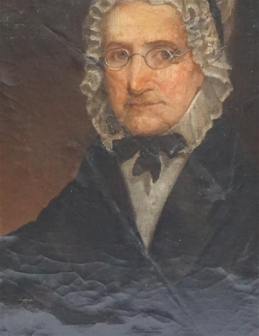 1844 OIL PORTRAIT OF AN OLDER WOMAN - 3