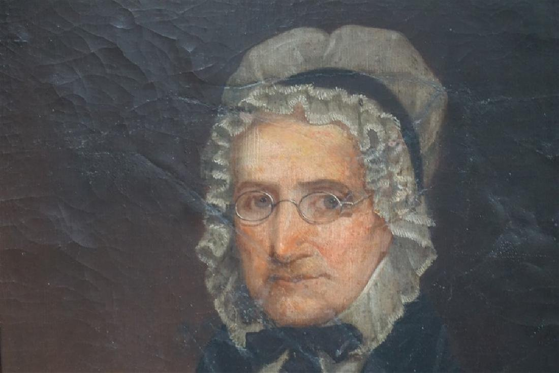 1844 OIL PORTRAIT OF AN OLDER WOMAN - 4
