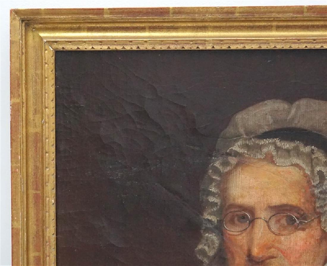 1844 OIL PORTRAIT OF AN OLDER WOMAN - 6