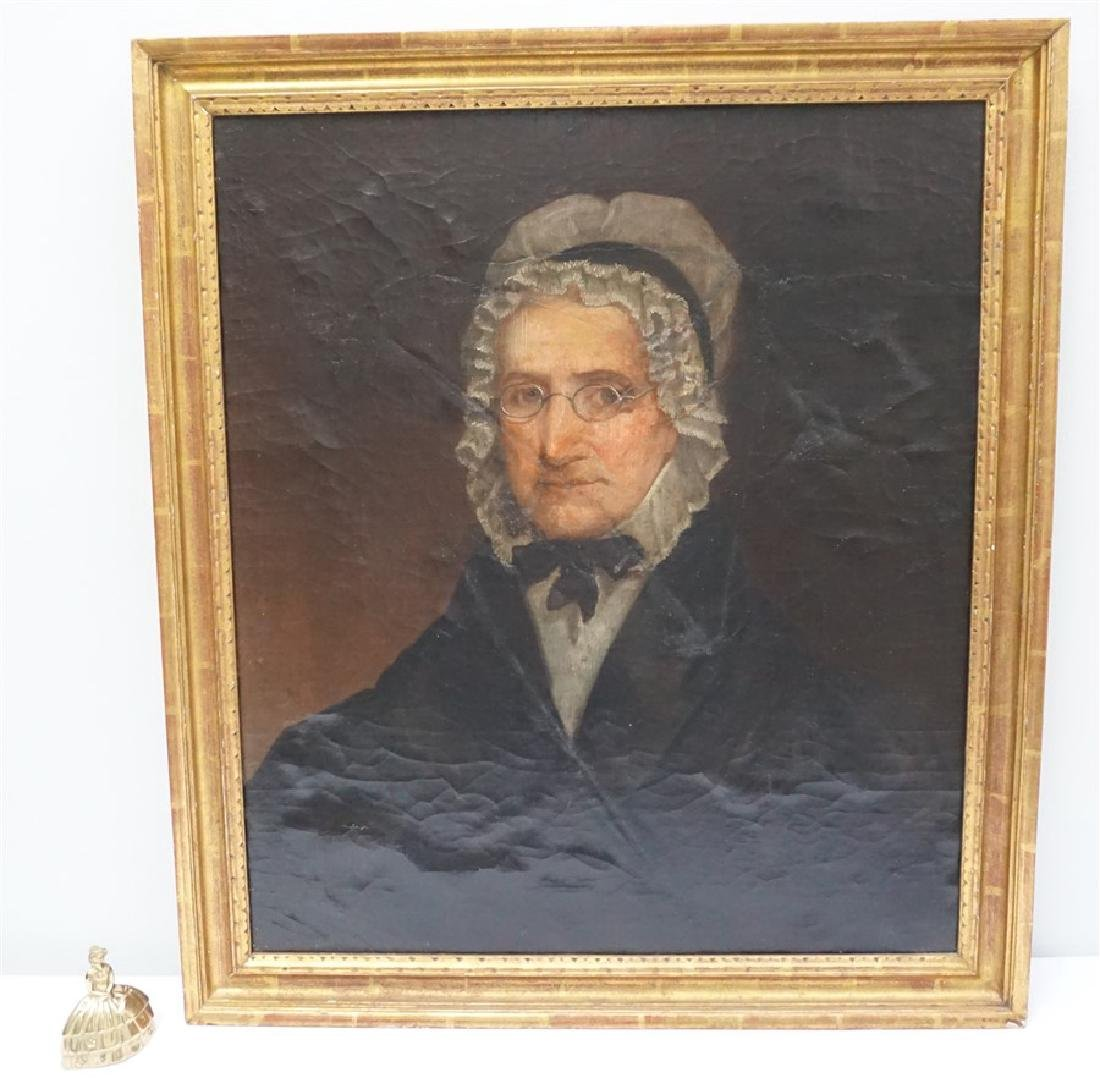 1844 OIL PORTRAIT OF AN OLDER WOMAN - 7
