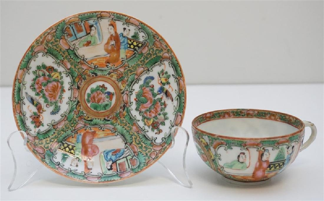 ROSE MEDALLION CUP AND SAUCER