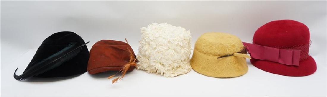 5 VINTAGE 1920-40s LADIES HATS