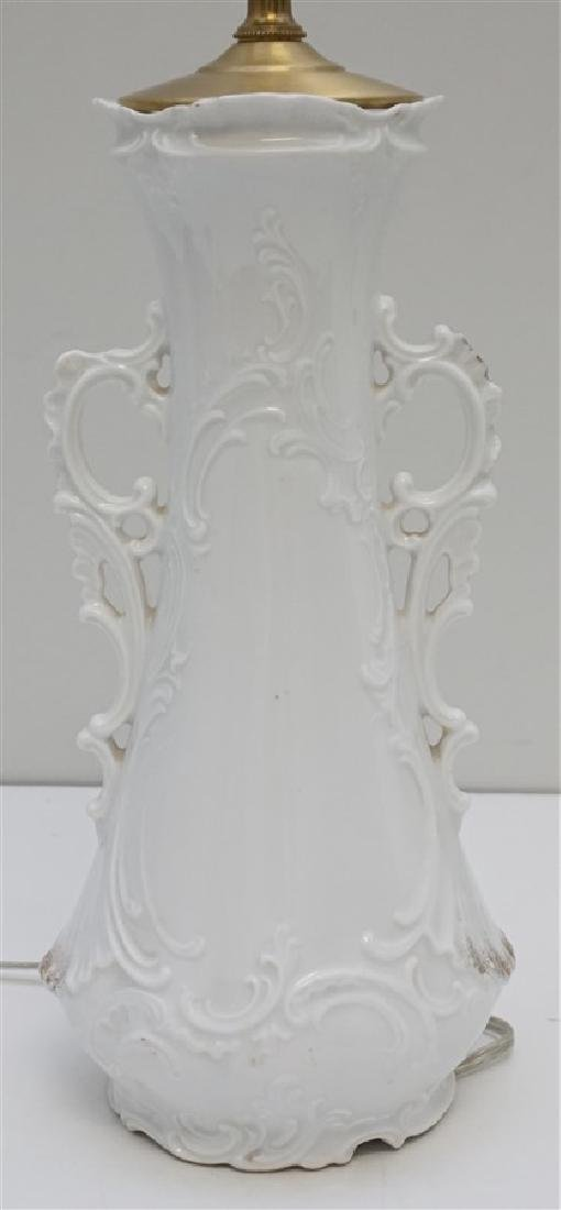 GERMAN PORCELAIN VASE LAMP - 3