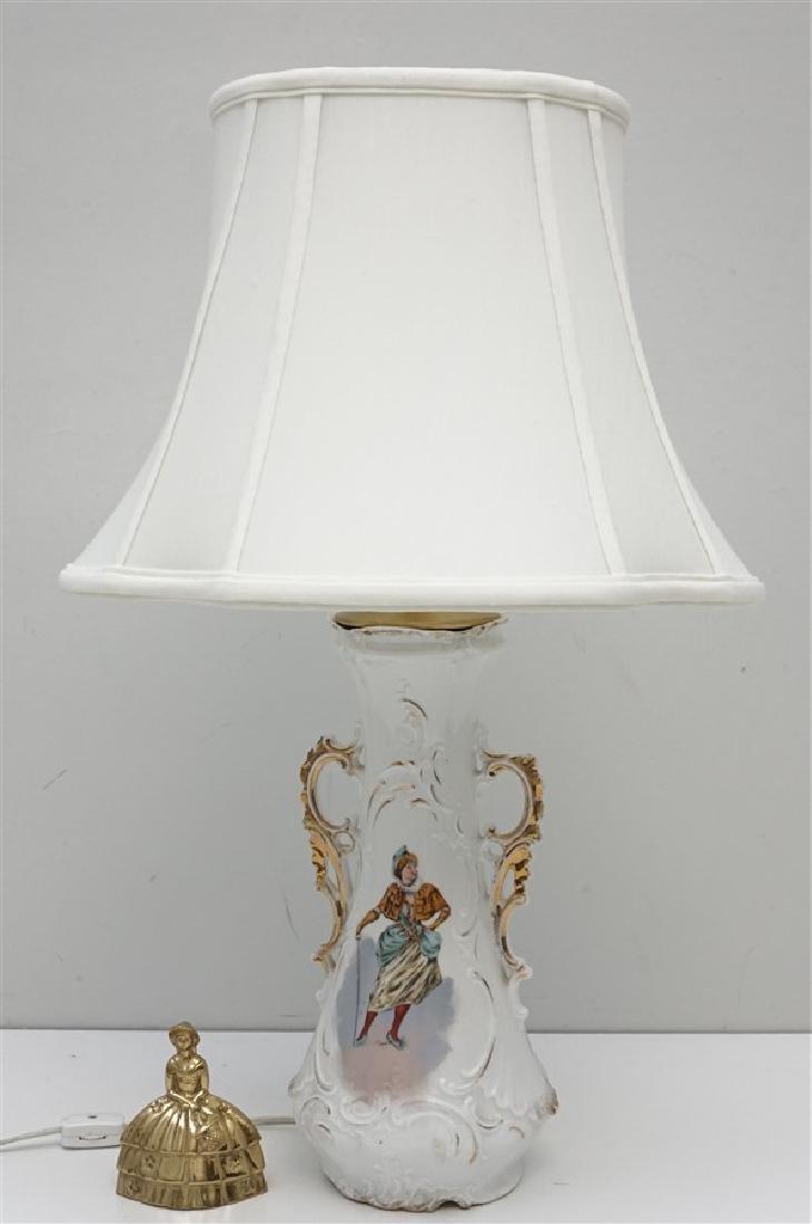GERMAN PORCELAIN VASE LAMP - 6