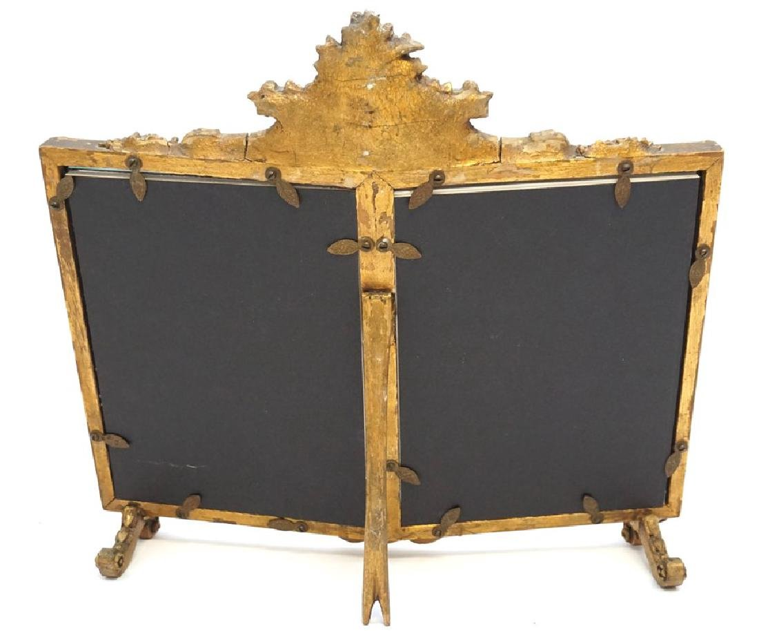 ORNATE ITALIAN GILT WOOD DOUBLE PHOTO FRAME - 7