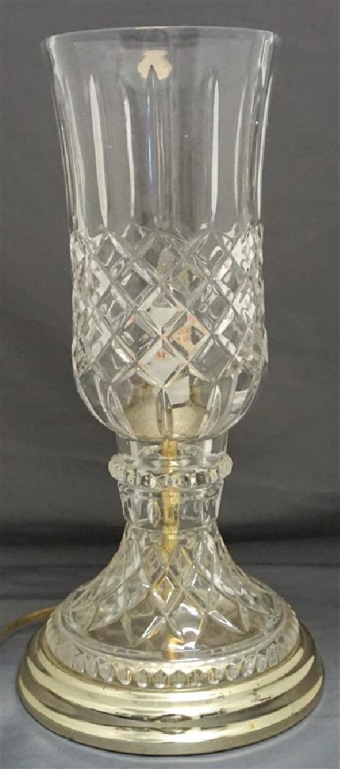 VINTAGE LEAD CRYSTAL CANDLE LAMP