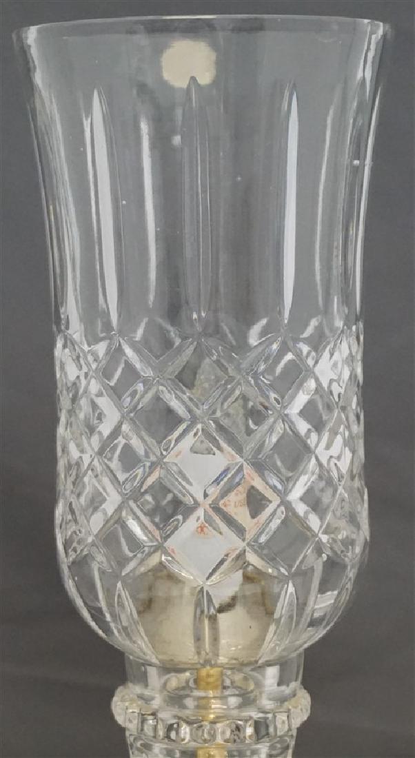 VINTAGE LEAD CRYSTAL CANDLE LAMP - 2