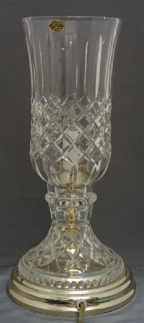VINTAGE LEAD CRYSTAL CANDLE LAMP - 5