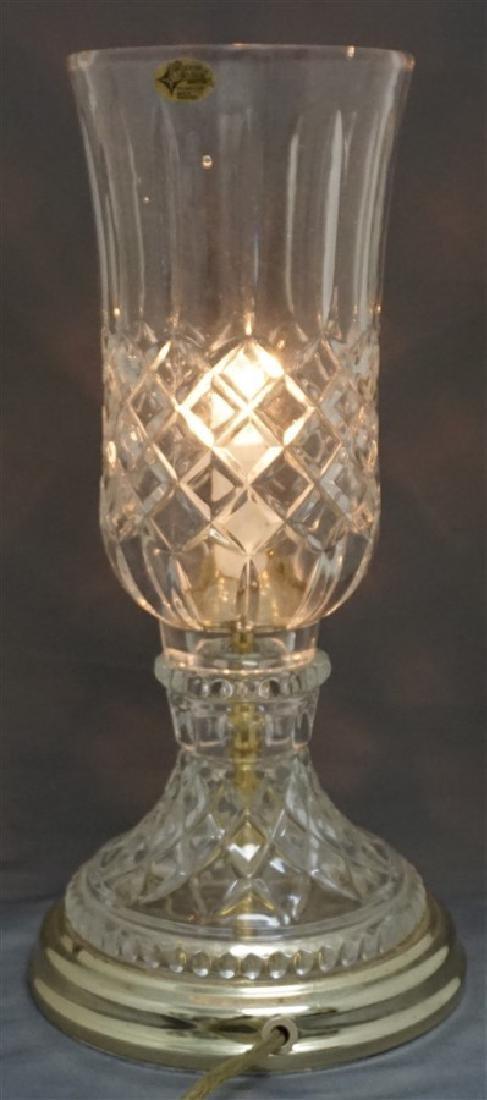 VINTAGE LEAD CRYSTAL CANDLE LAMP - 6