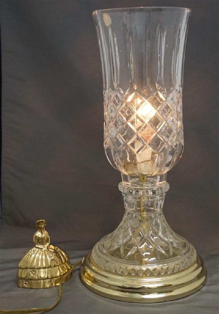 VINTAGE LEAD CRYSTAL CANDLE LAMP - 7