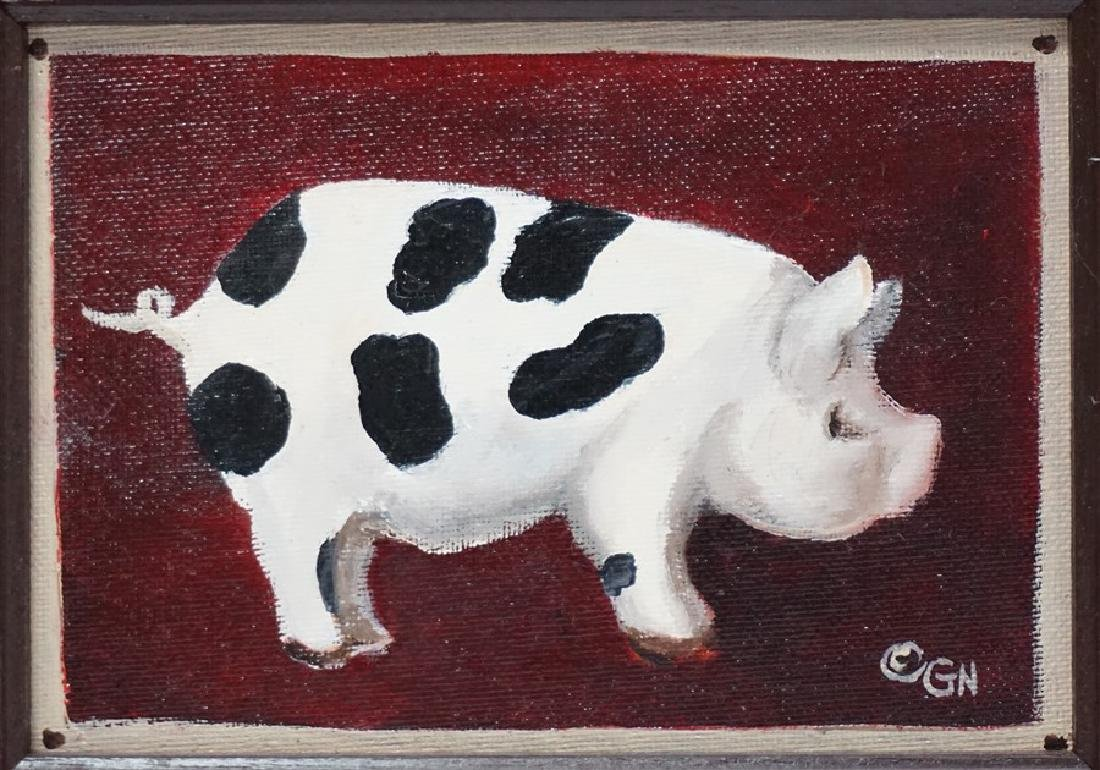 3 FOLK ART PAINTINGS FARM ANIMALS- GLORIA NELSON - 2