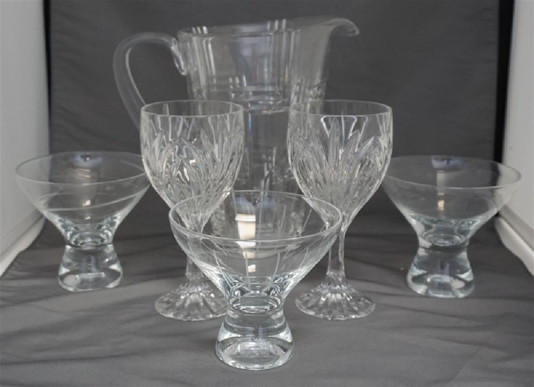 6 MIKASA GLASSES & PITCHER