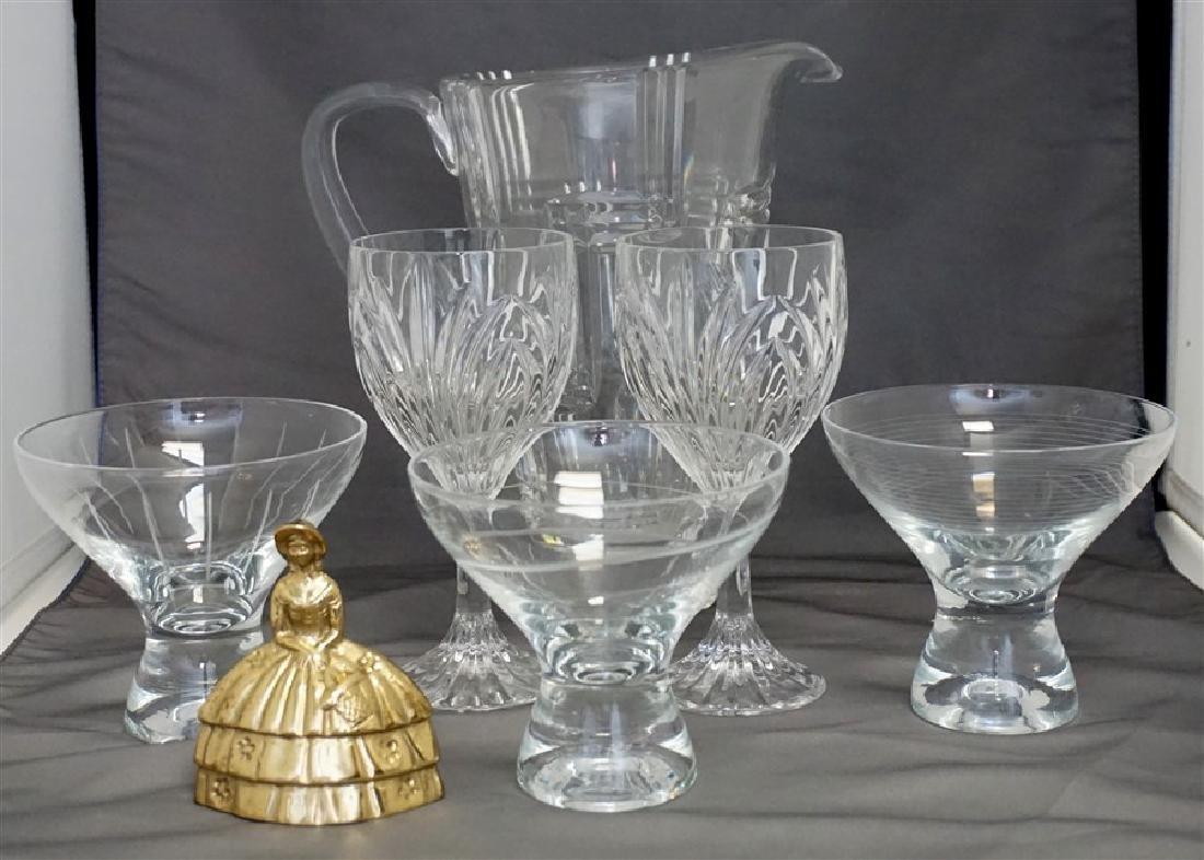 6 MIKASA GLASSES & PITCHER - 5