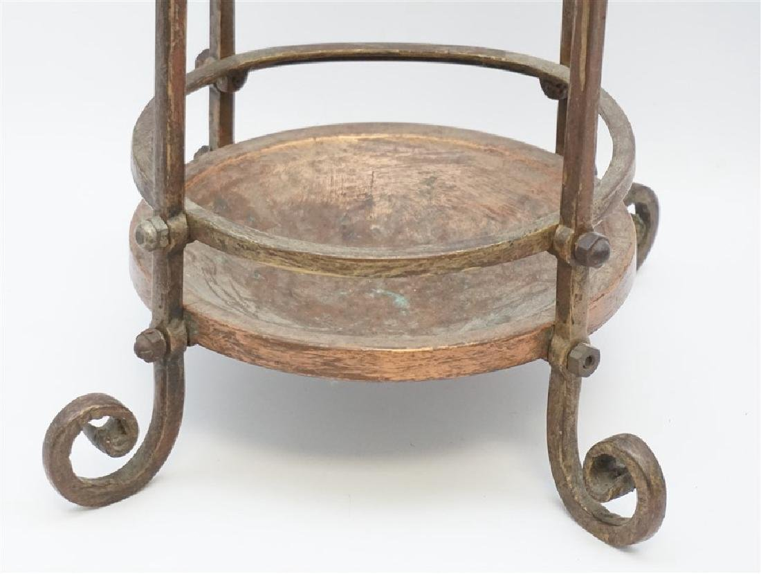 ANTIQUE BRASS & COPPER CANE / UMBRELLA STAND - 2