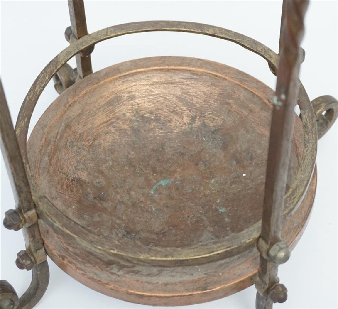 ANTIQUE BRASS & COPPER CANE / UMBRELLA STAND - 5