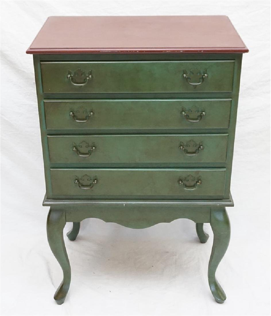 CONTEMPORARY PAINTED CHEST GREEN