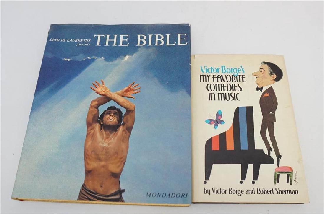 2 AUTOGRAPHED BOOKS - DINO DE LAURENTIIS + VICTOR BORGE