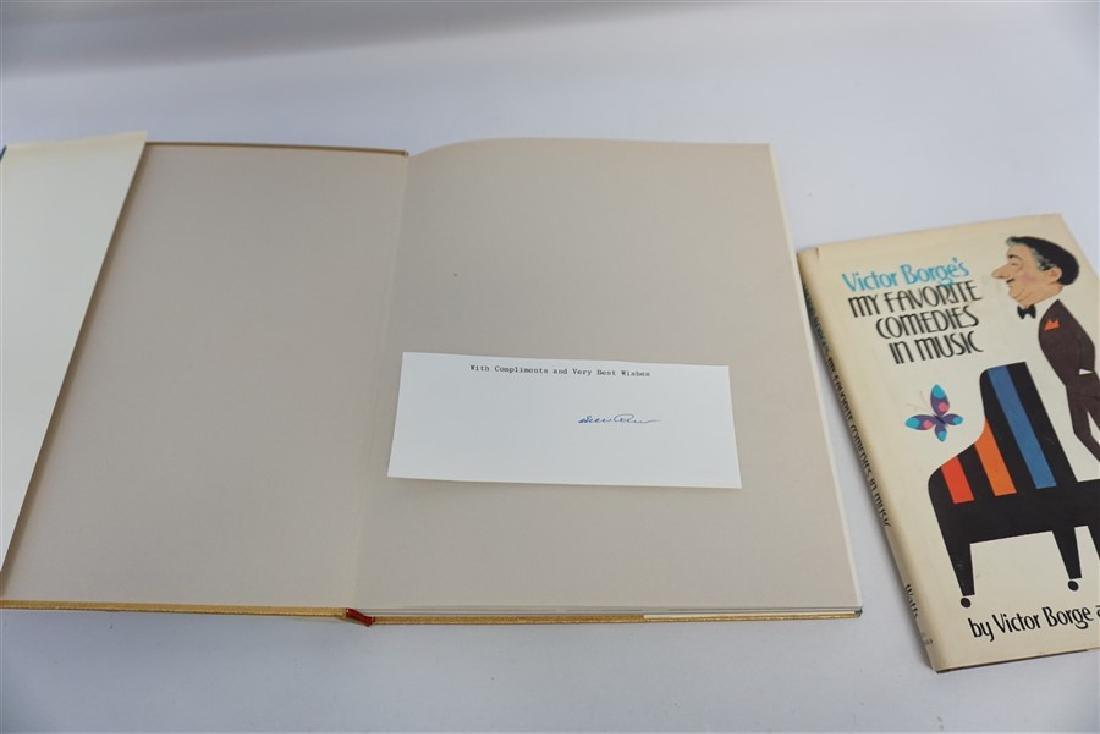 2 AUTOGRAPHED BOOKS - DINO DE LAURENTIIS + VICTOR BORGE - 2
