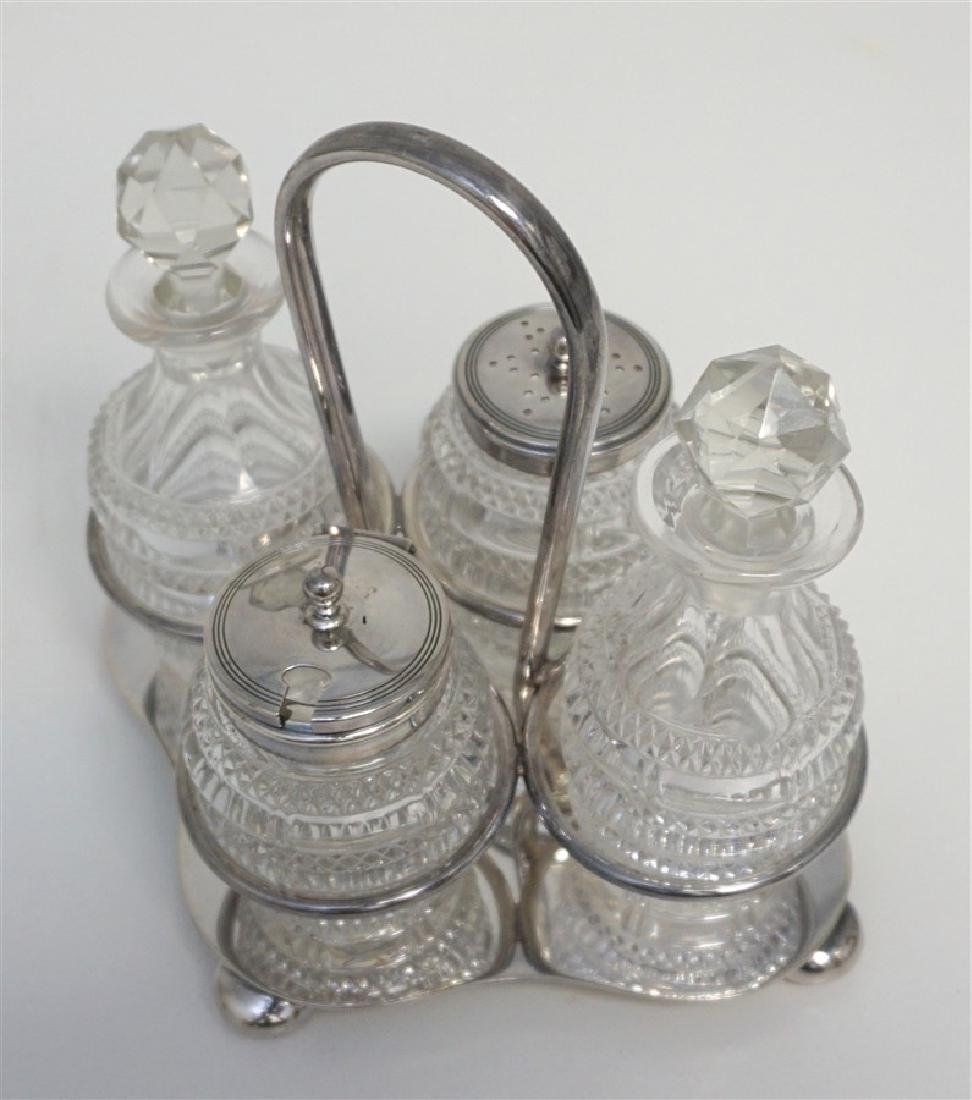 EDWARDIAN ENGLISH DANIEL & ARTER CRUET - CONDIMENT SET - 2
