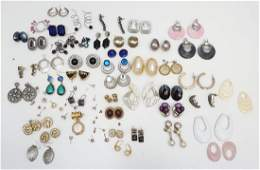40 PAIR COLLECTION VINTAGE ESTATE EARRINGS