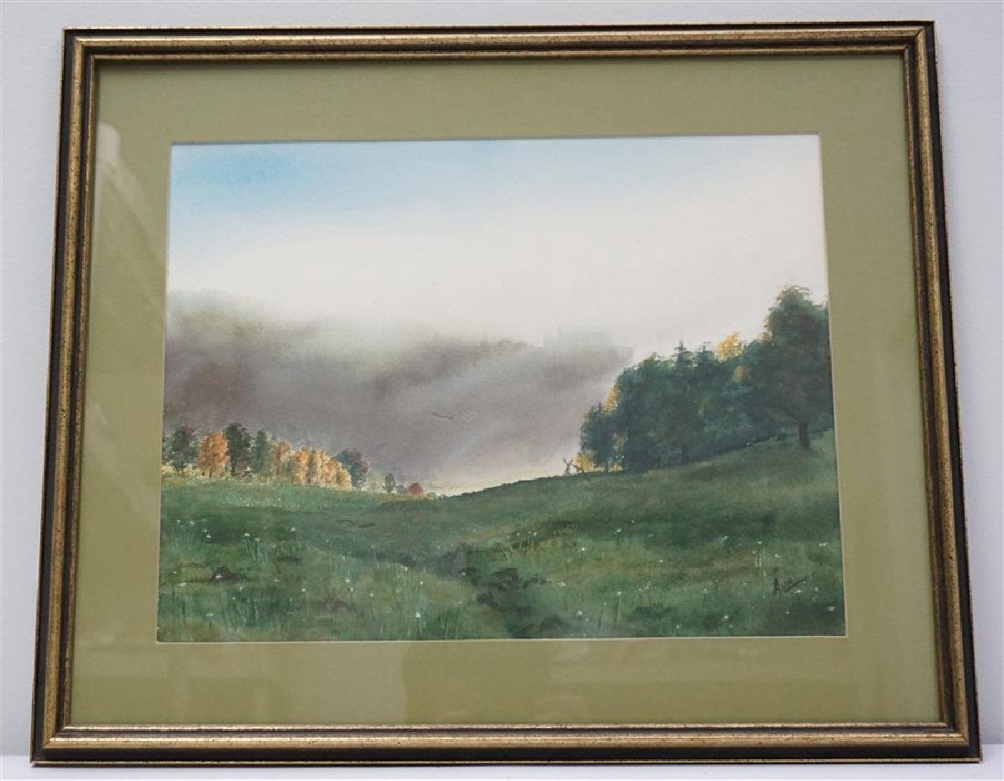 ORIGINAL CAROLINA WATERCOLOR WOODS