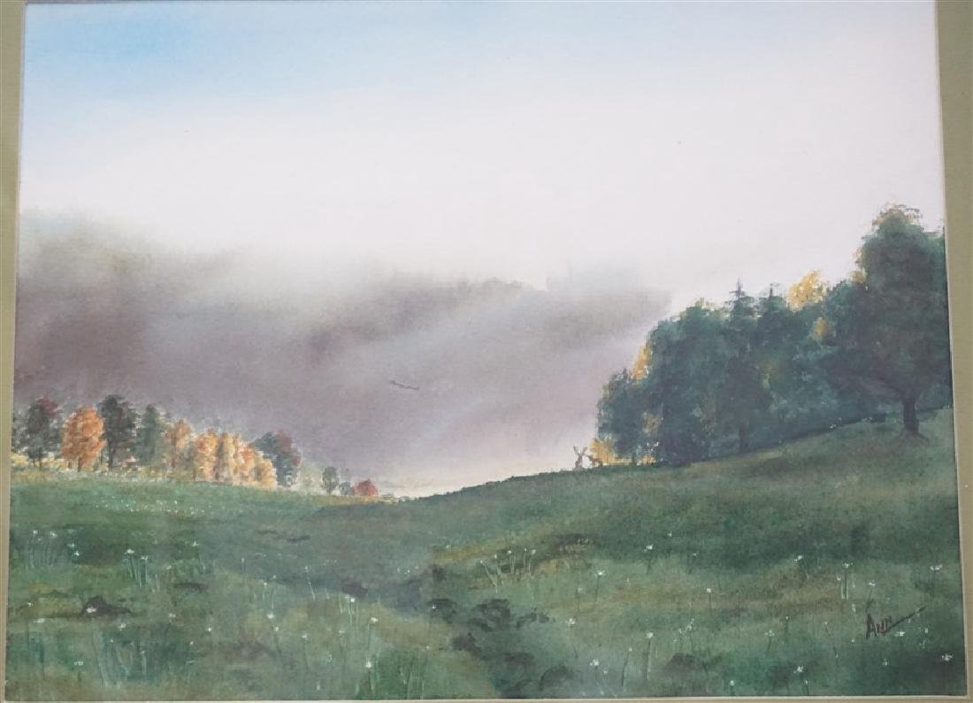 ORIGINAL CAROLINA WATERCOLOR WOODS - 2