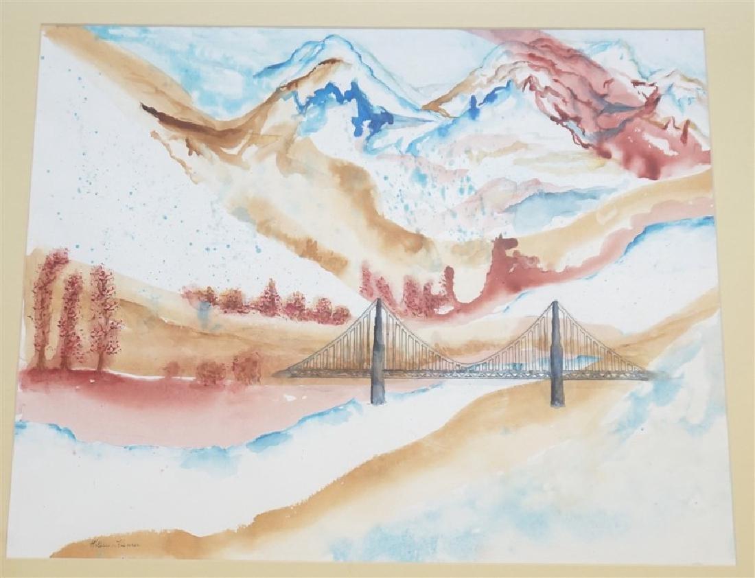 ABSTRACT WATERCOLOR BRIDGE - KATHLEEN FLENNER - 2