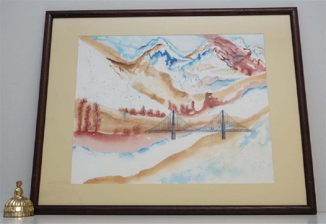 ABSTRACT WATERCOLOR BRIDGE - KATHLEEN FLENNER - 7