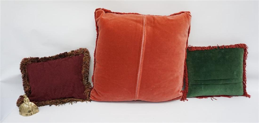 3 NEEDLEPOINT & TAPESTRY EQUESTRIAN PILLOWS - 6