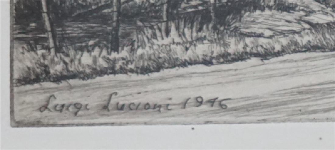 LUIGI LUCIONI 1946 ENGRAVING ROUTE 7 - 3