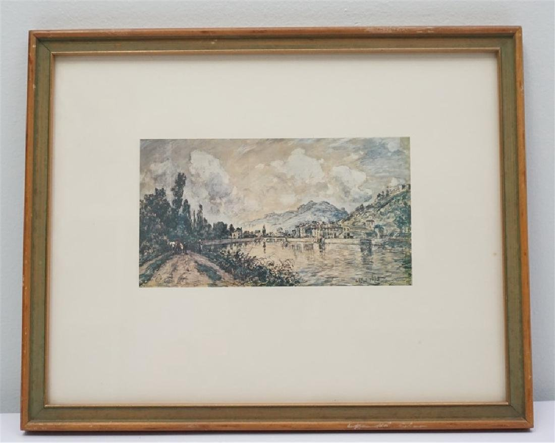 FRAMED CONTINENTAL MOUNTAIN TOWN PRINT