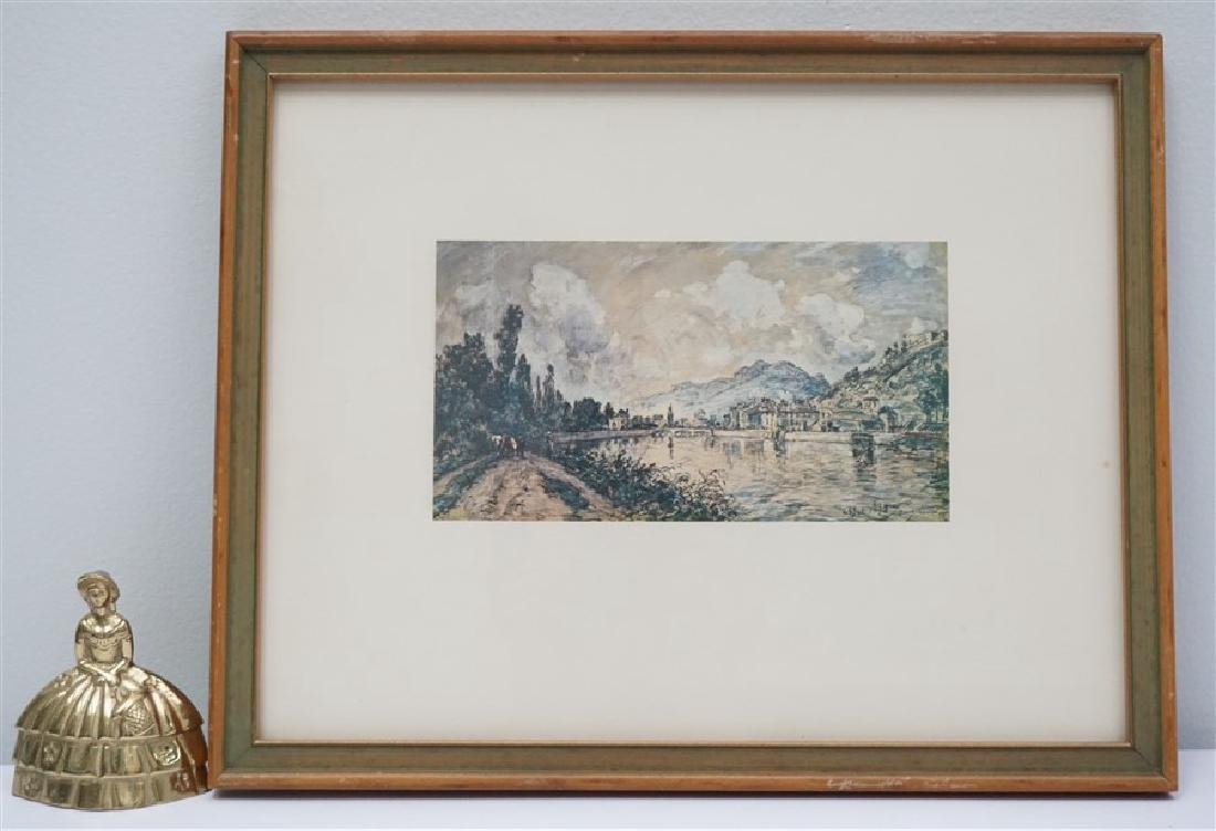 FRAMED CONTINENTAL MOUNTAIN TOWN PRINT - 4