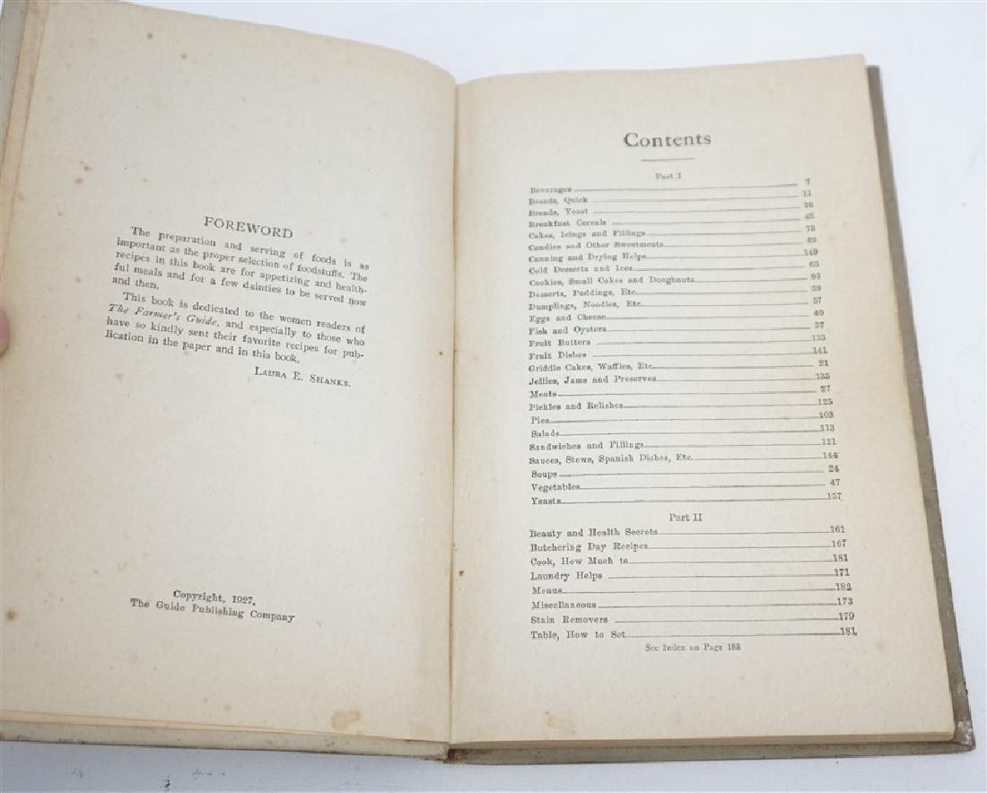 "1927 ""THE FARMERS GUIDE COOKBOOK"" - 3"