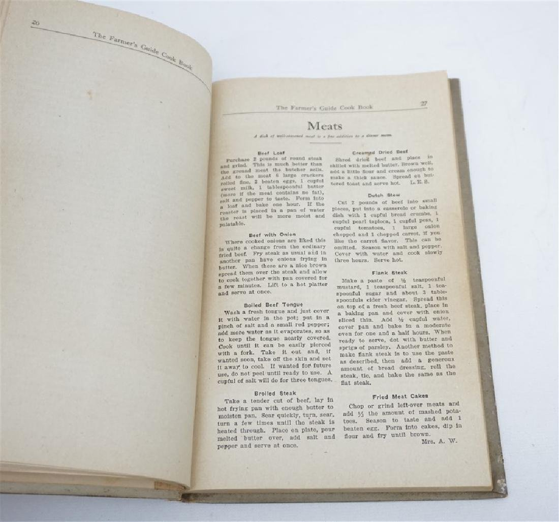 "1927 ""THE FARMERS GUIDE COOKBOOK"" - 4"