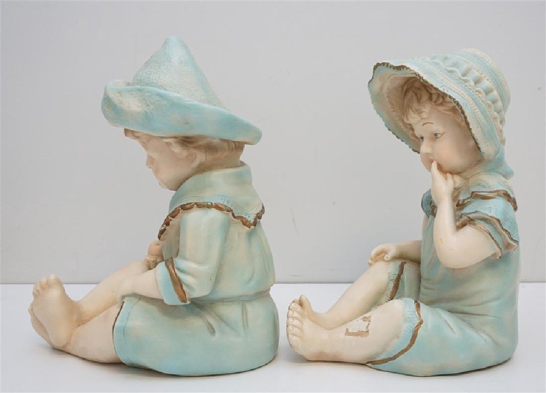 PAIR VINTAGE LARGE CERAMIC PIANO BABIES - 2