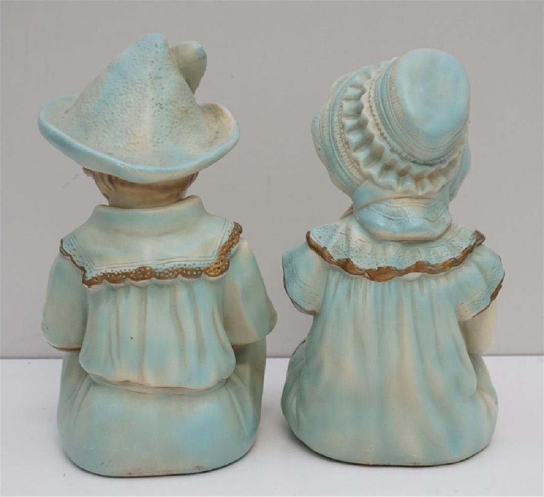 PAIR VINTAGE LARGE CERAMIC PIANO BABIES - 3