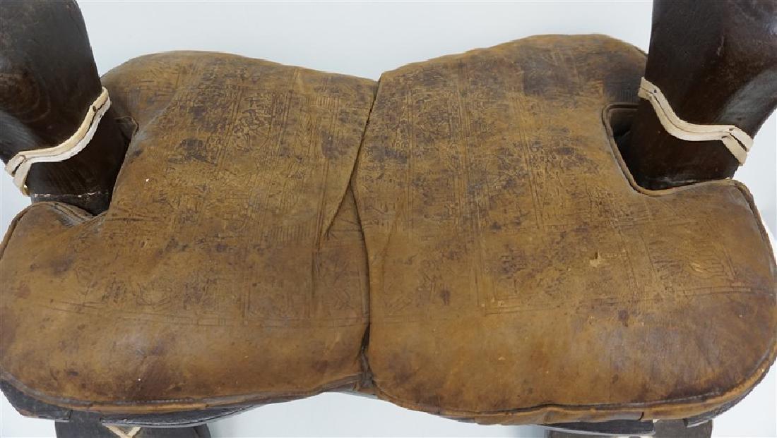 EGYPTIAN CARVED WOOD CAMEL SADDLE / STOOL - 2