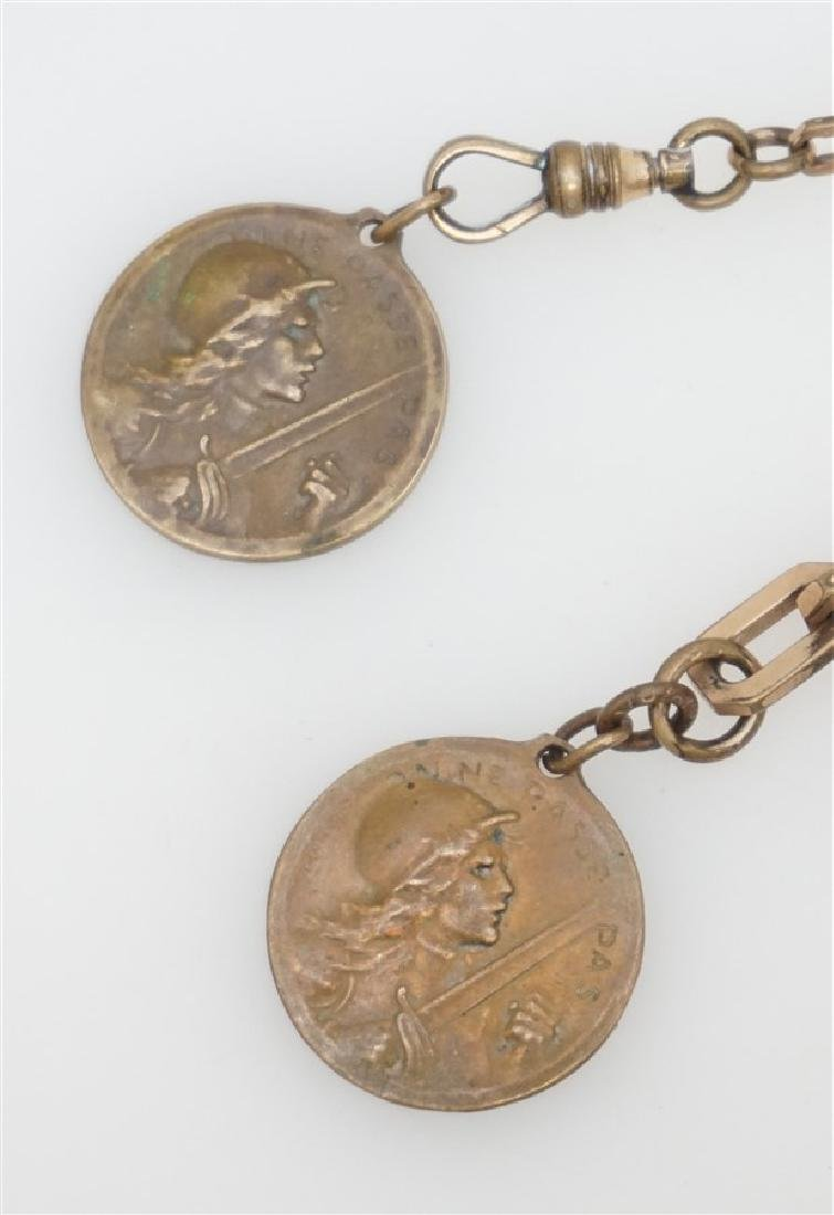 2 1916 VERDUN MEDALS & WATCH FOB - 2