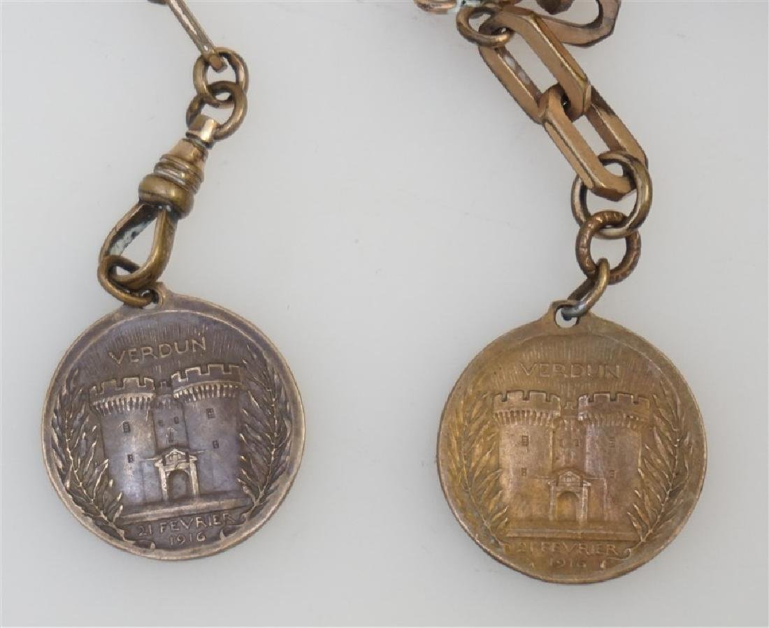 2 1916 VERDUN MEDALS & WATCH FOB - 4