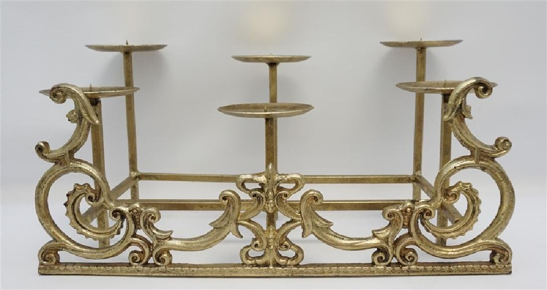 CAST IRON FIREPLACE CANDLE HOLDER