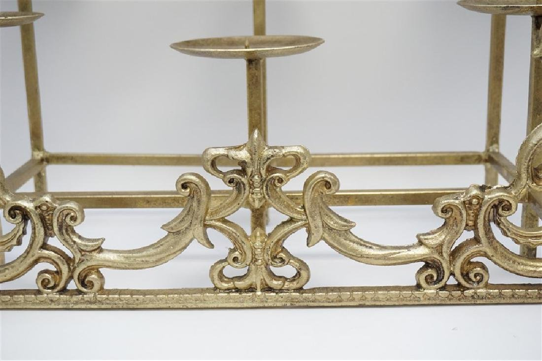CAST IRON FIREPLACE CANDLE HOLDER - 2