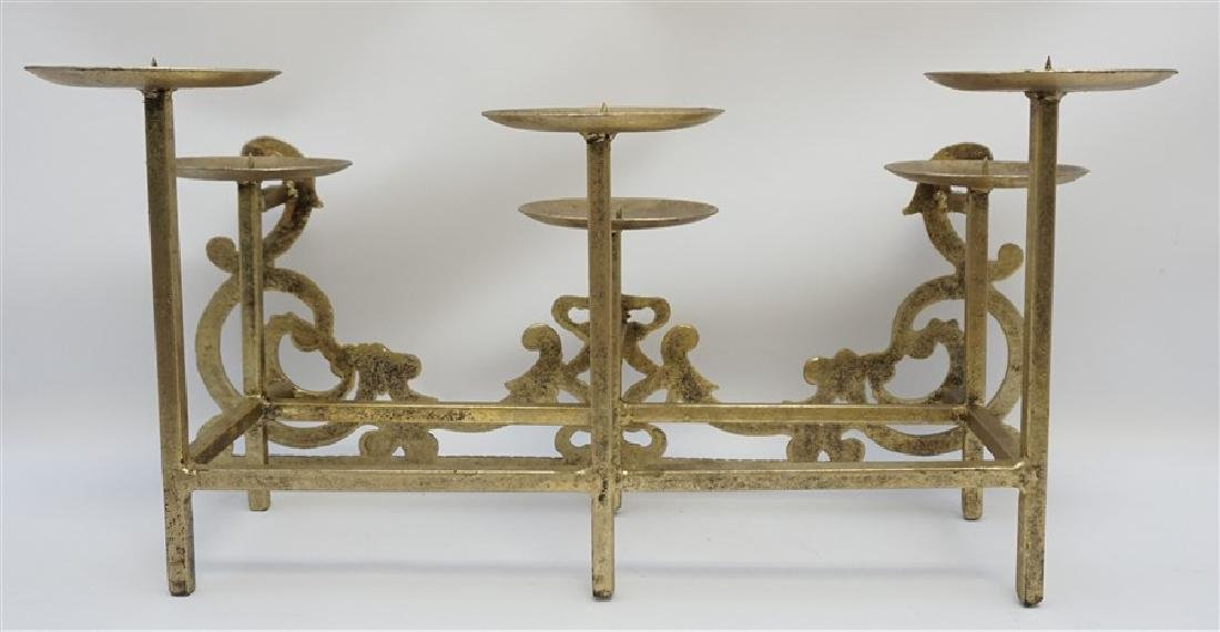 CAST IRON FIREPLACE CANDLE HOLDER - 6