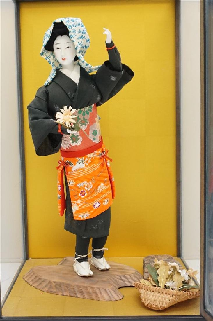 JAPANESE PORCELAIN DOLL W CASE - 2