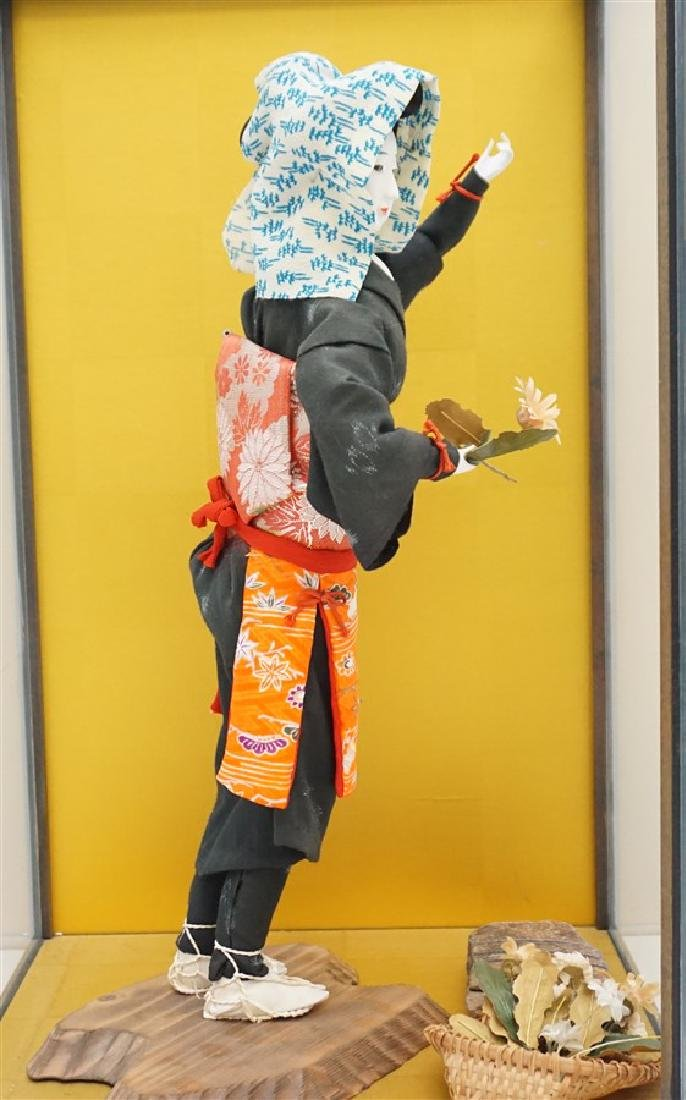 JAPANESE PORCELAIN DOLL W CASE - 3